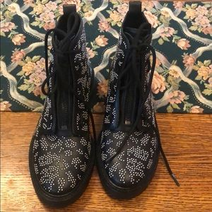 Rag and Bone leopard stud cannon boot